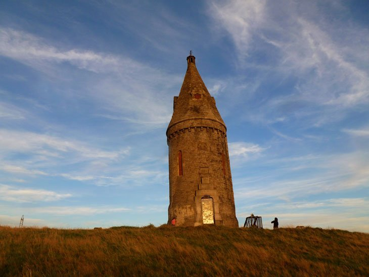 Hartshead Pike – The Edge of the Pennines at Dusk